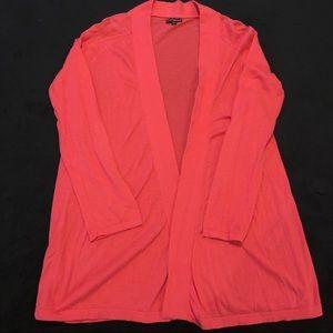 Express pink 3/4 sleeve cardigan